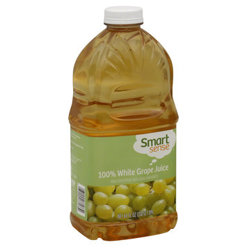 Smart Sense 100% Juice, White Grape, 64 fl oz (2 qt) 1.89 lt - KMART CORPORATION