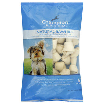 Kmart Corporation Rawhide Bones, Natural, Small Dogs, 4 Inch, 24 oz (680 g)