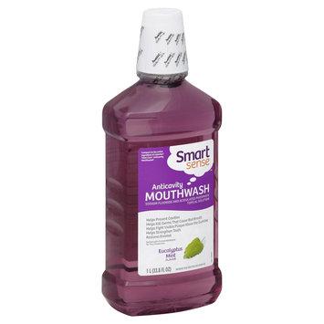 Smart Sense Mouthwash, Anticavity, Eucalyptus Mint Flavor, 33.8 fl oz (1 lt) - KMART CORPORATION