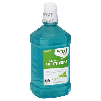 Kmart Corporation Mouthwash, Antiseptic, Spring Mint Flavor, 50.7 fl oz (1.5 lt)