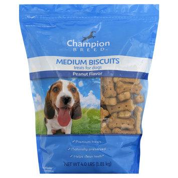 Champion Breed Treats for Dogs, Medium Biscuits, Peanut Flavor, 4 lb (1.81 kg) - KMART CORPORATION