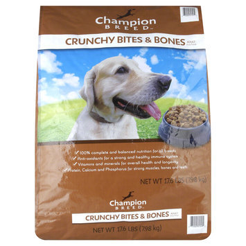 Champion Breed Dog Food, Adult, Crunchy Bites & Bones, 17.6 lb (7.98 kg) - KMART CORPORATION