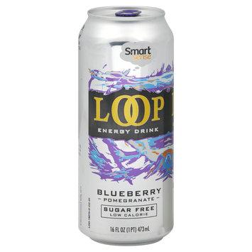 Smart Sense Loop Energy Drink, Sugar Free, Blueberry Pomegranate, 16 fl oz (1 pt) 473 ml - KMART CORPORATION