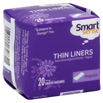 Kmart Corporation Smart Sense Pantiliners, Thin, Regular, Unscented, 20 pantiliners