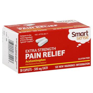 Kmart Corporation Acetaminophen, 500 mg, Extra Strength, Caplets, 50 caplets
