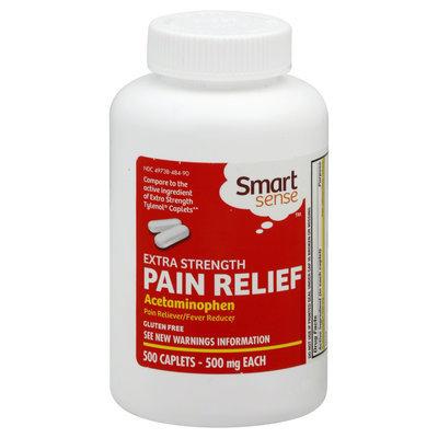 Kmart Corporation Smart Sense Pain Relief, Extra Strength, 500 mg, Caplets, 500 caplets