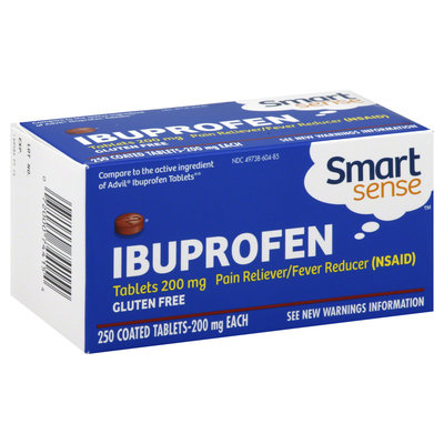 Smart Sense Ibuprofen, 200 mg, Tablets, 250 tablets - KMART CORPORATION