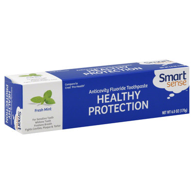 Toothpaste, Fluoride, Anticavity, Healthy Protection, Fresh Mint, 6 oz (170 g)