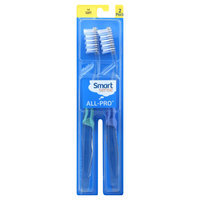 Kmart Corporation Smart Sense All-Pro Toothbrushes, Full, Soft, 2 toothbrushes