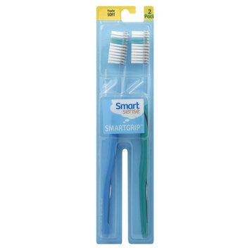 Kmart Corporation Smart Grip Toothbrushes, Regular, Soft, 2 toothbrushes