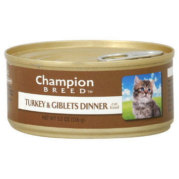 Champion Breed Cat Food, Turkey & Giblets Dinner, 5.5 oz (156 g) - KMART CORPORATION