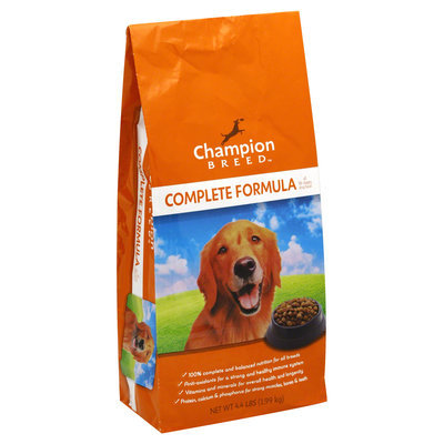 Champion Breed Dog Food, All Life Stages, Complete Formula, 4.4 lb (1.99 kg) - KMART CORPORATION