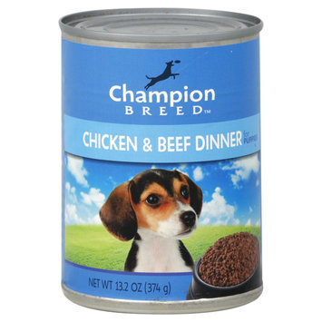 Champion Breed Dog Food, Chicken & Beef Dinner, for Puppies, 13.2 oz (374 g) - KMART CORPORATION