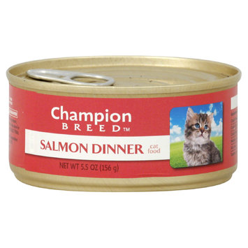 Champion Breed Cat Food, Salmon Dinner, 5.5 oz (156 g) - KMART CORPORATION