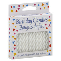 American Greetings Guild House Spiral Birthday Candles White Small (24 Candles)