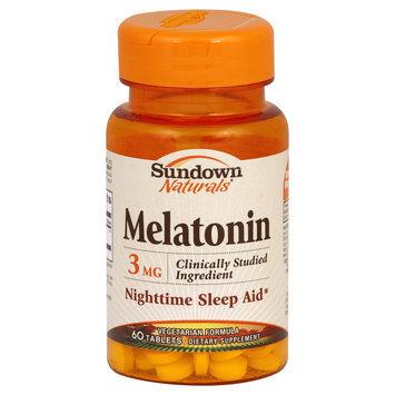 Sundown Melatonin 3 mg Tabs, 60 ct