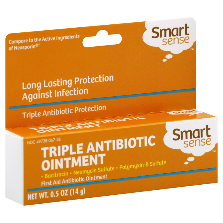Smart Sense Triple Antibiotic Cream, 0 5 oz (14 g) - KMART CORPORATION