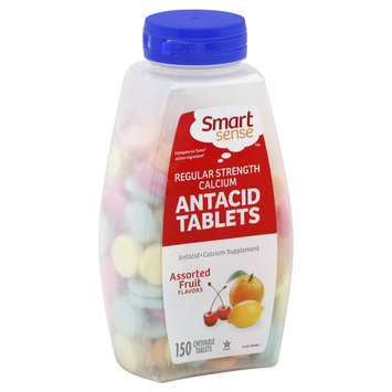Smart Sense Antacid Tablets, Regular Strength Calcium, Chewable, Assorted Fruit Flavors 150 tablets - KMART CORPORATION