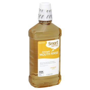Smart Sense Mouth Rinse, Antiseptic, Original Flavor, 33.8 fl oz (1 lt) - KMART CORPORATION