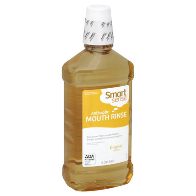 Smart Sense Mouth Rinse, Antiseptic, Original Flavor, 33.8 fl oz (1 lt) - KMART CORPORATION