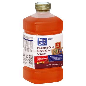 Little Ones Electrolyte Solution, Pediatric Oral, with Zinc, Strawberry Flavor, 33.8 fl oz (1 qt 1.8 fl oz) 1 lt - KMART CORPORATION