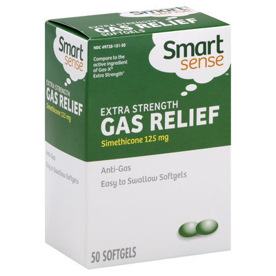 Kmart Corporation Gas Relief, Extra Strength, 125 mg, Softgels, 50 softgels