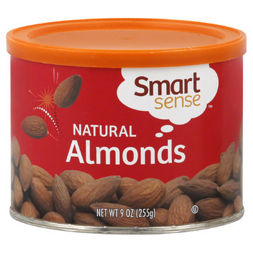 Smart Sense Almonds, Natural, 9 oz (255 g) - mygofer