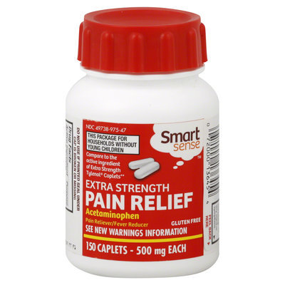 Kmart Corporation Pain Relief, Extra Strength, 500 mg, Caplets, 150 caplets