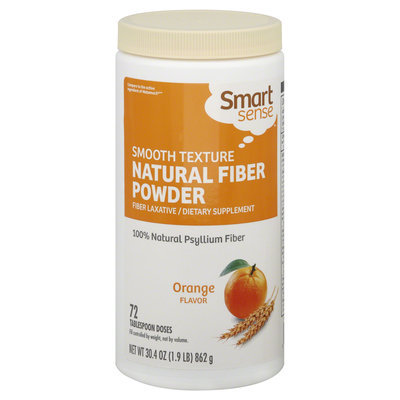 Smart Sense Fiber Laxative, Natural Fiber Powder, Orange 72 doses (30.4 oz [1.9 lb] 862 g) - KMART CORPORATION