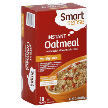 Smart Sense Oatmeal, Instant, Variety Pack, 10 packets [12.4 oz (352 g)] - KMART CORPORATION