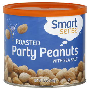 Smart Sense Peanuts, Party, Roasted, with Sea Salt, 12 oz (340 g) - mygofer