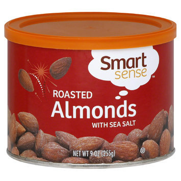 Smart Sense Almonds, Roasted, With Sea Salt, 9 oz (255 g) - mygofer