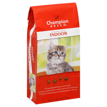 Champion Breed Cat Food, Maintenance, Indoor, 3.5 lb (1.59 kg) - KMART CORPORATION