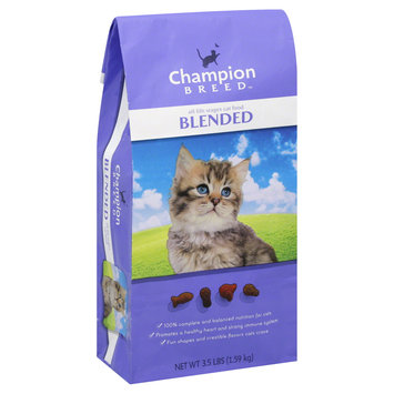 Champion Breed Cat Food, Blended, All Life Stages, 3.5 lb (1.59 kg) - KMART CORPORATION