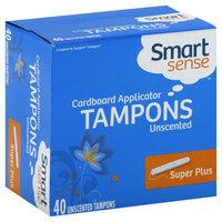 Smart Sense Tampons, Cardboard Applicator, Super Plus, Unscented 40 tampons - KMART CORPORATION