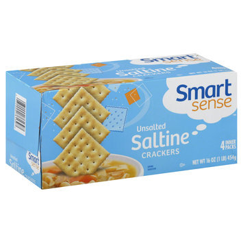 Smart Sense Crackers, Saltine, Unsalted, 4 packs [16 oz (1 lb) 454 g)] - KMART CORPORATION