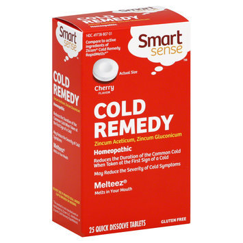 Smart Sense Cold Remedy, Quick Dissolve Tablets, Cherry, 25 Tablets - KMART CORPORATION