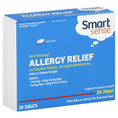 Smart Sense Allergy Relief, Indoor & Outdoor Allergies, 24 Hour