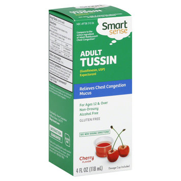 Smart Sense Tussin, Adult, Cherry Flavor, 4 oz - KMART CORPORATION