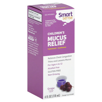 Smart Sense Mucus Relief, Children's, Liquid, Grape Flavor, 4 oz - KMART CORPORATION