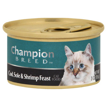 Champion Breed Cat Food, Cod, Sole & Shrimp Feast, 3 oz (85 g) - ITALIAN BUTTER BREAD STICKS