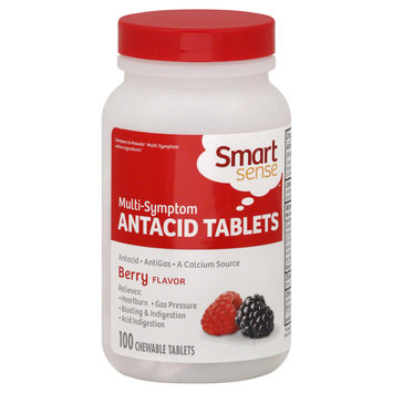 Mygofer Smart Sense Antacid Tablets, Multi-Symptom, Berry Flavor, 100 tablets