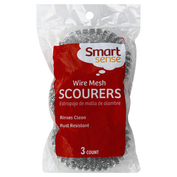 Smart Sense Scourers, Wire Mesh, 3 scourers - FIFTY-FIFTY GROUP