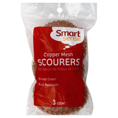 Smart Sense Scourers, Copper Mesh, 3 scourers - FIFTY-FIFTY GROUP