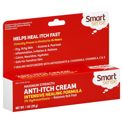 Kmart Corporation Anti-Itch Cream, Maximum Strength, Intensive Healing Formula, 1% Hydrocortisone, 1 oz (28 g)