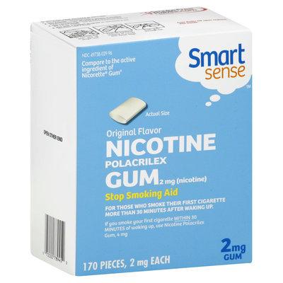 Smart Sense Stop Smoking Aid, 2 mg, Gum, Original Flavor, 170 2 mg pieces - KMART CORPORATION