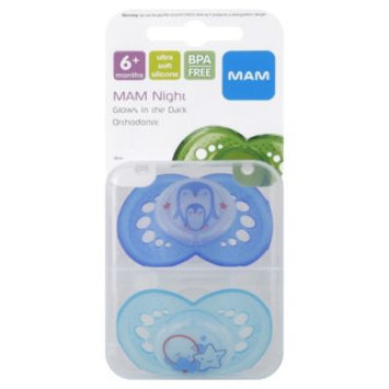 MAM Night Orthodontic Silicone Pacifiers (Pack of 2)