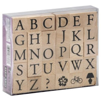 Hero Arts Mounted Rubber Stamp Set-Garamond Letters