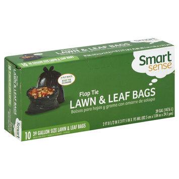 Smart Sense Lawn & Leaf Bags, Flap Tie, 39 Gallon, 10 bags - mygofer