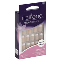 Pacific World Corporation Nailene Flex For Comfort French Finish Nails, Medium, Pack Of 2